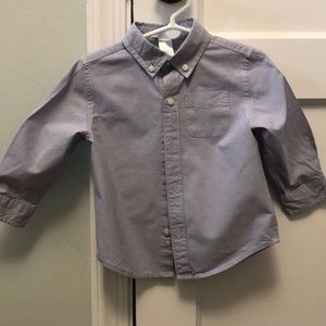 Janie and Jack - Blue Oxford Button Down